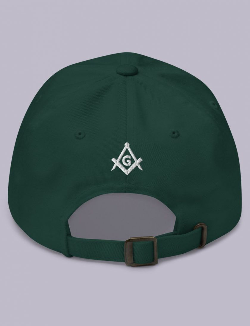 Embroidery Raised masonic hat back spruce