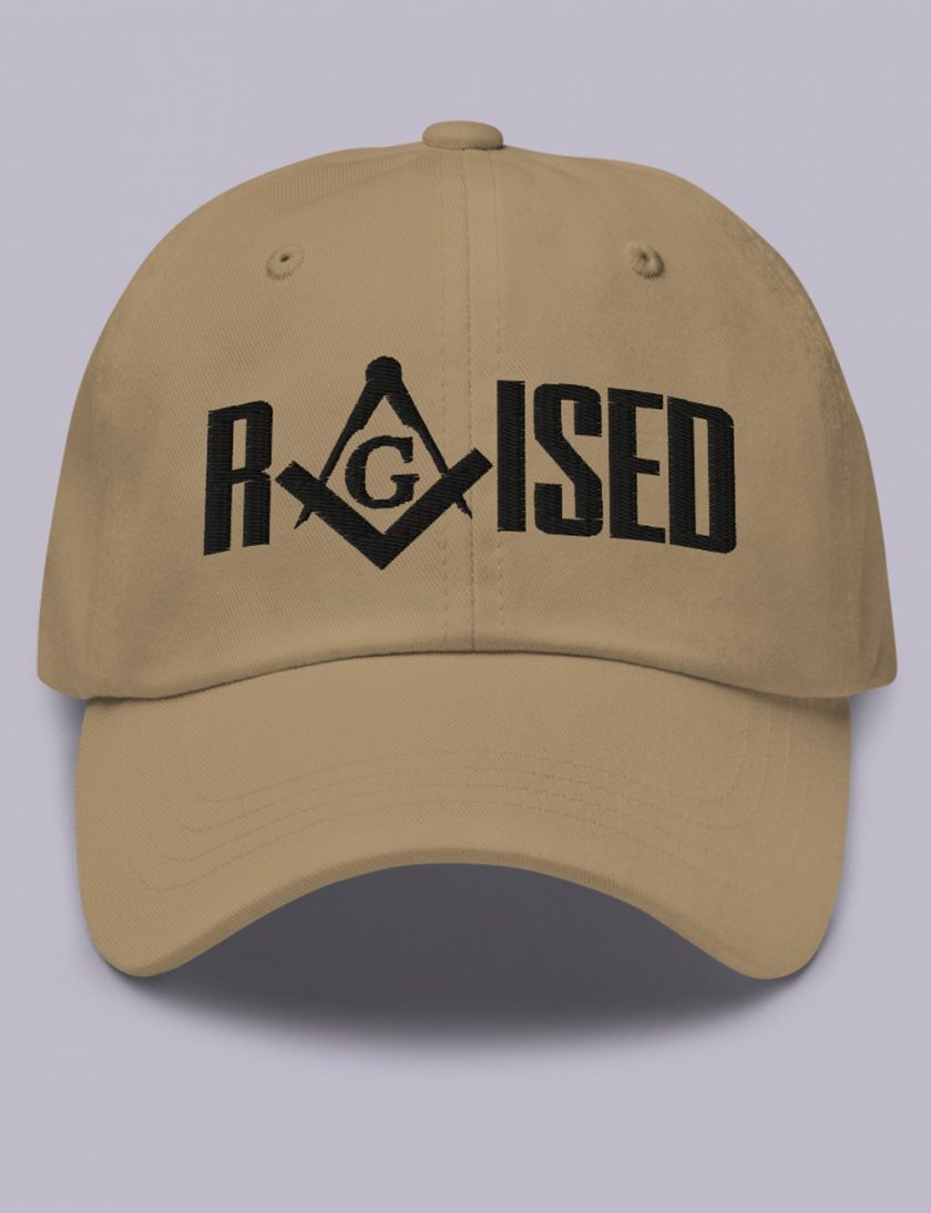 Embroidery Raised masonic hat khaki black