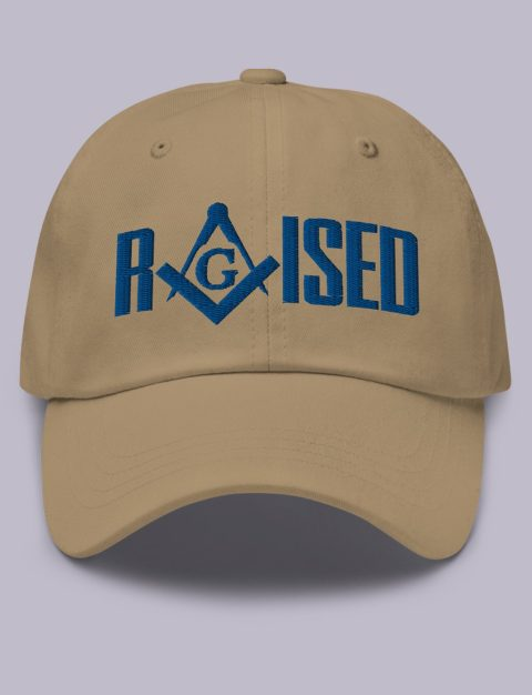 Raised Masonic Hat Royal Embroidery Raised masonic hat khaki royal