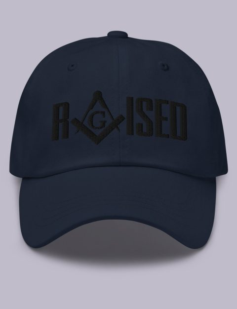 Raised Masonic Hat Black Embroidery Embroidery Raised masonic hat navy black