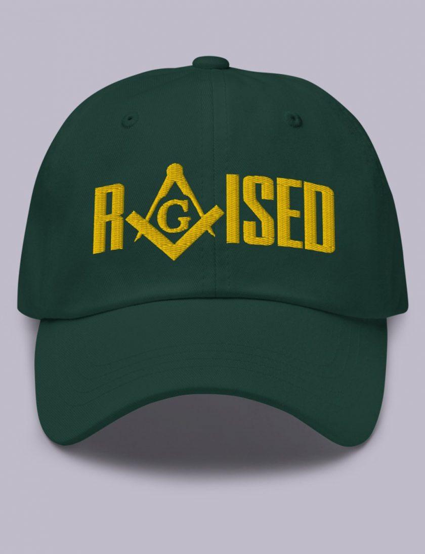 Embroidery Raised masonic hat spruce