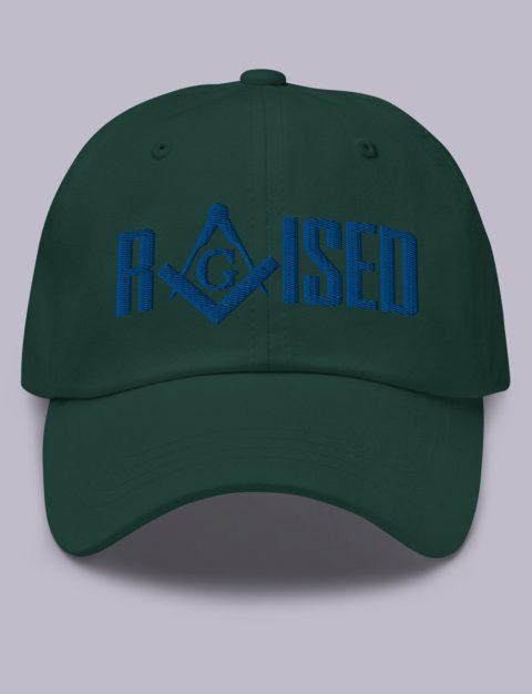 Raised Masonic Hat Royal Embroidery Raised masonic hat spruce royal