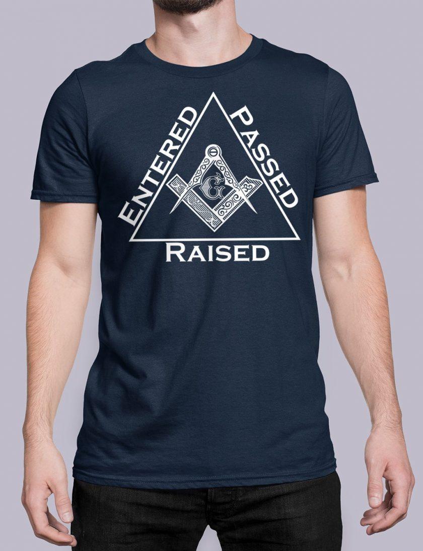 Entered Passed Raised navy shirt 9
