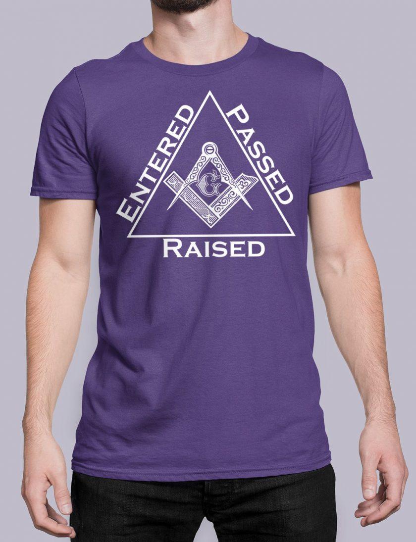 Entered Passed Raised purple shirt 9