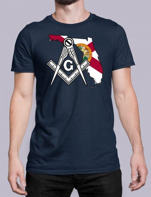 Florida Masonic Tee Florida navy shirt
