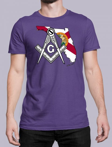 Florida Masonic Tee Florida purple shirt