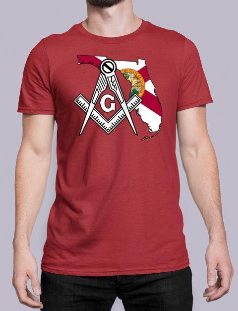 Florida Masonic Tee Florida red shirt