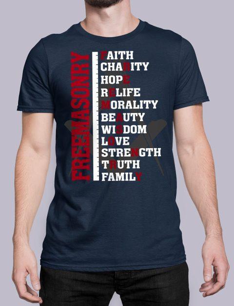 Freemasonry T-shirt Freemasonry navy shirt 13