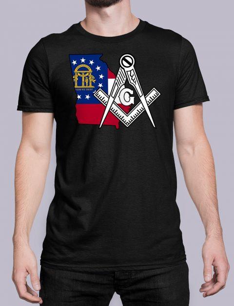 Georgia Masonic Tee Georgia black shirt