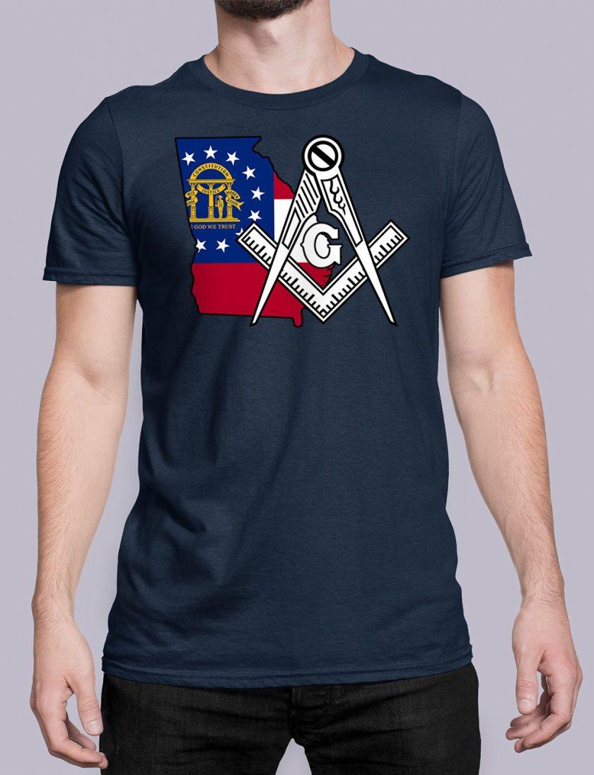 Georgia Masonic Tee Georgia navy shirt