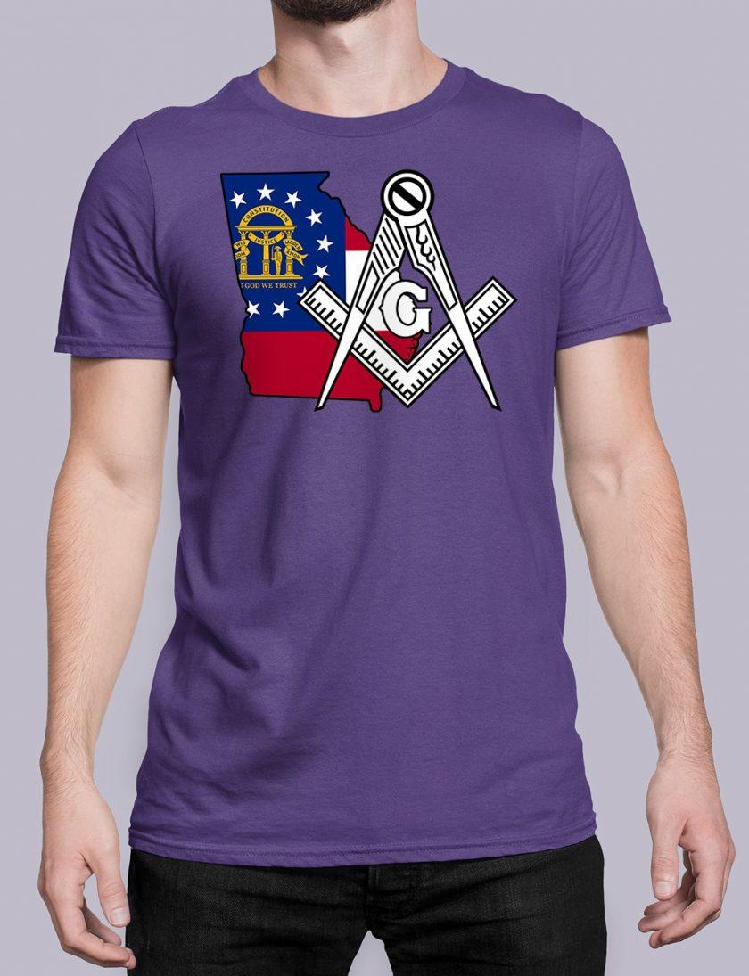Georgia Masonic Tee Georgia purple shirt