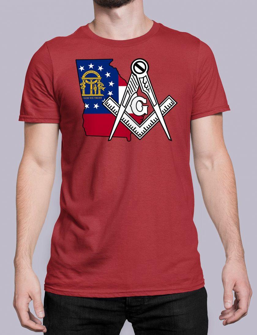Georgia Masonic Tee Georgia red shirt