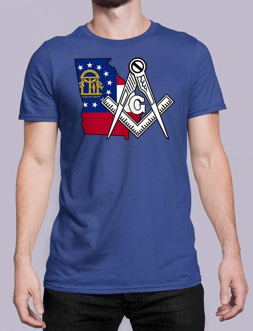 Georgia Masonic Tee Georgia royal shirt