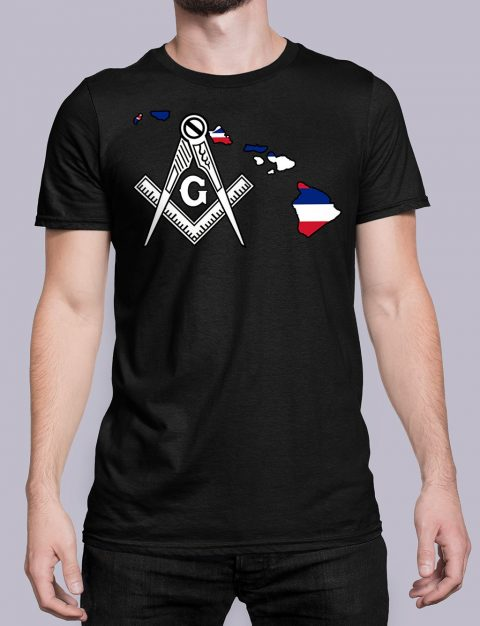 Hawaii Masonic Tee Hawaii black shirt