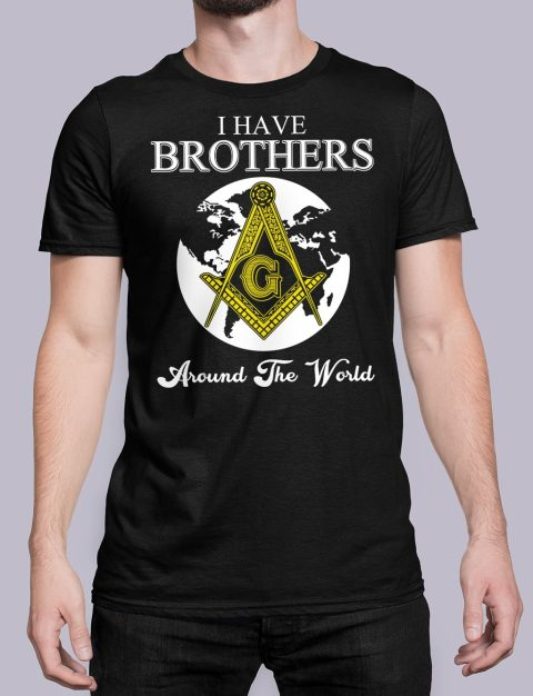 I Have Brothers Around The World T-Shirt I Have Brothers Around The World black shirt 14