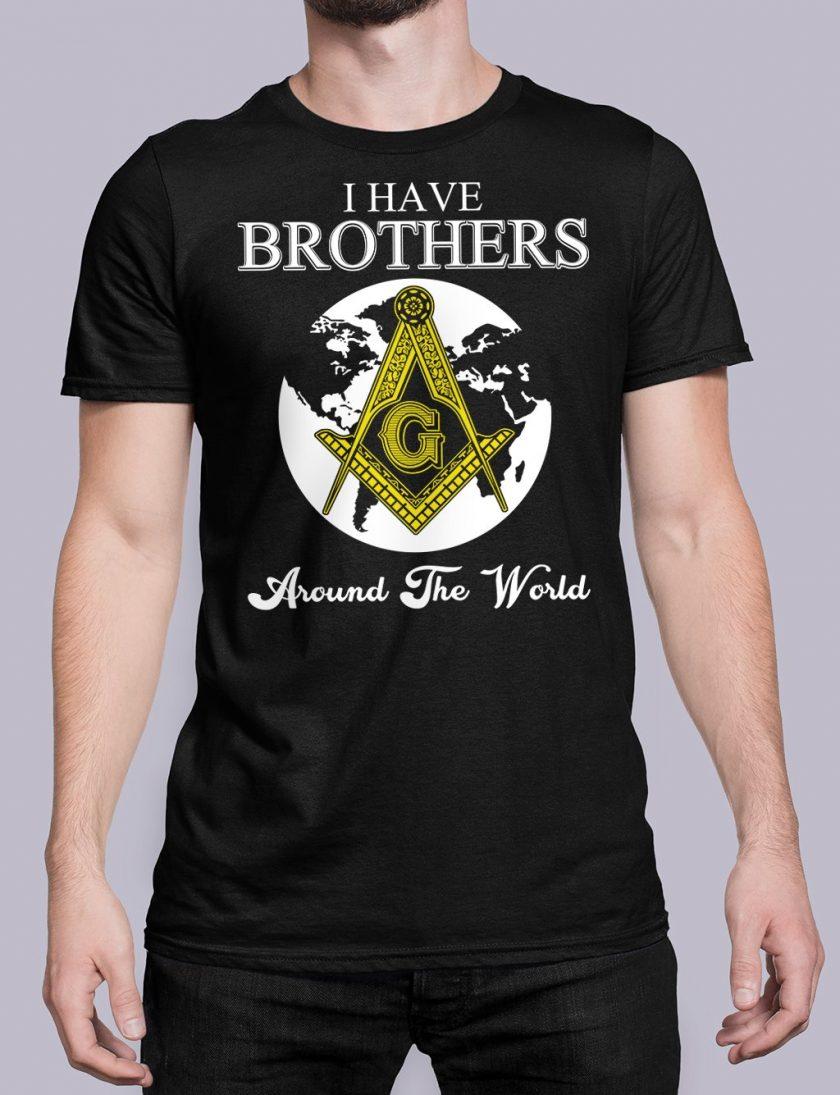 I Have Brothers Around The World black shirt 14
