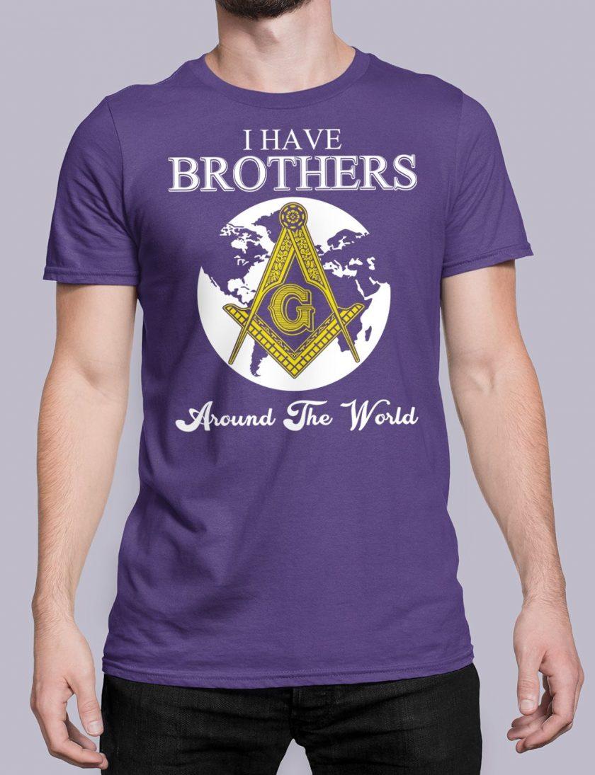 I Have Brothers Around The World purple shirt 14