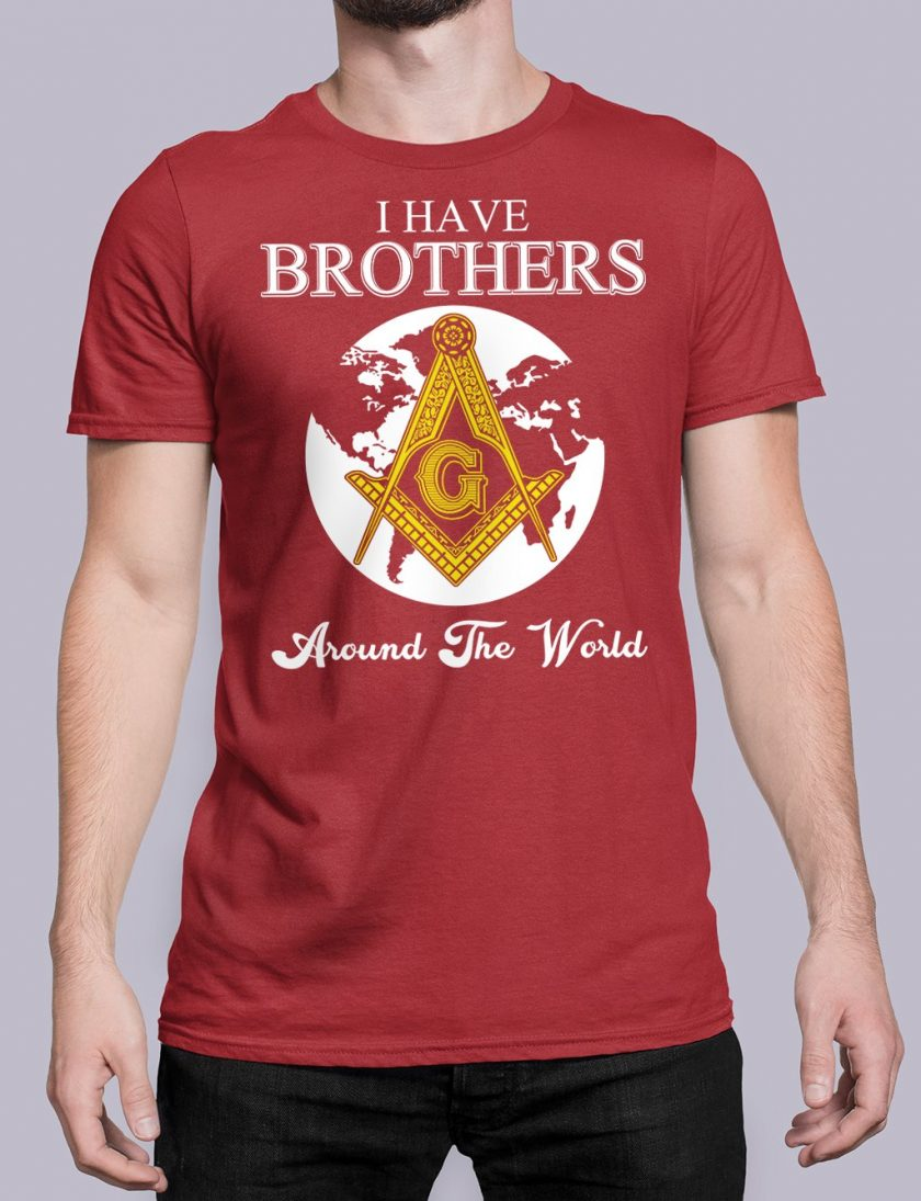 I Have Brothers Around The World red shirt 14