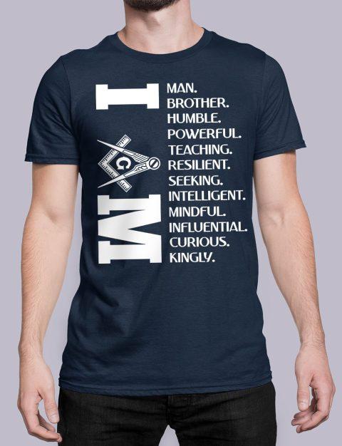 I Am Masonic T-Shirt I am navy shirt