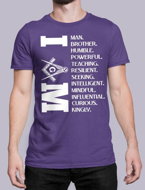 I Am Masonic T-Shirt I am purple shirt