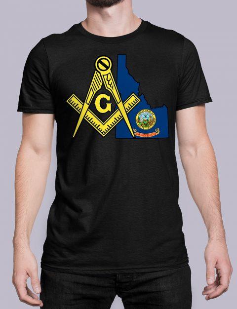 Idaho Masonic Tee Idaho black shirt