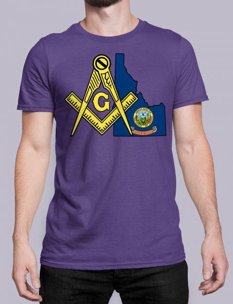 Idaho Masonic Tee Idaho purple shirt