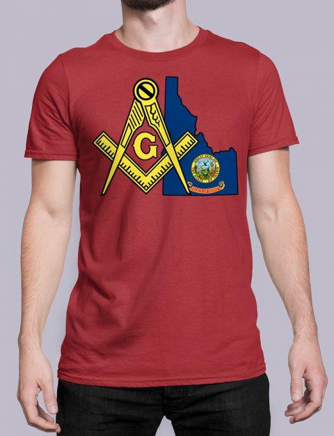 Idaho Masonic Tee Idaho red shirt