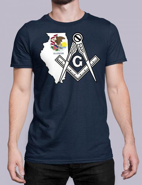 Illinois Masonic Tee Illinois navy shirt
