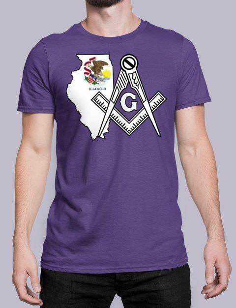 Illinois Masonic Tee Illinois purple shirt