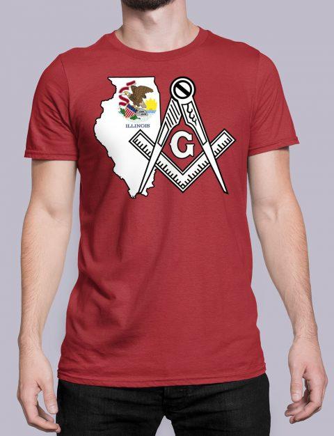 Illinois Masonic Tee Illinois red shirt