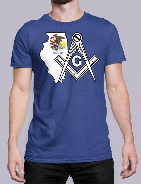 Illinois Masonic Tee Illinois royal shirt
