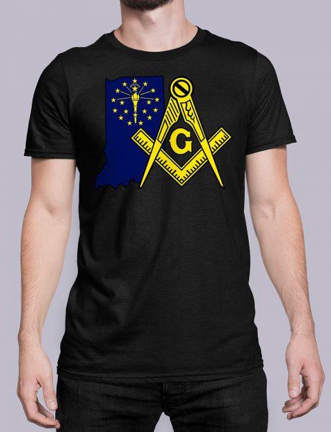 Indiana Masonic Tee Indiana black shirt