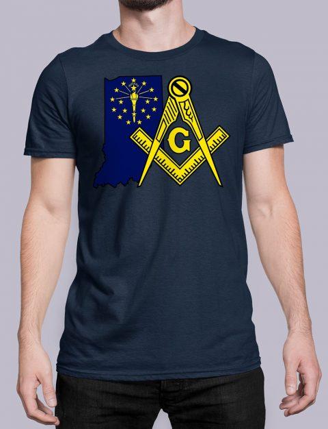 Indiana Masonic Tee Indiana navy shirt