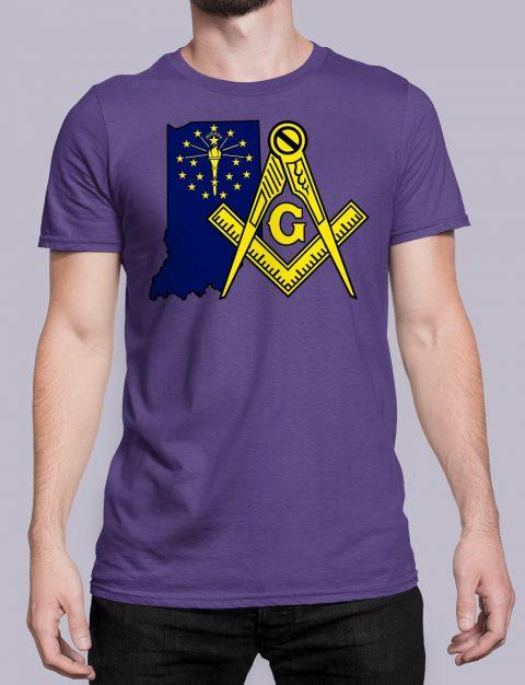 Indiana Masonic Tee Indiana purple shirt