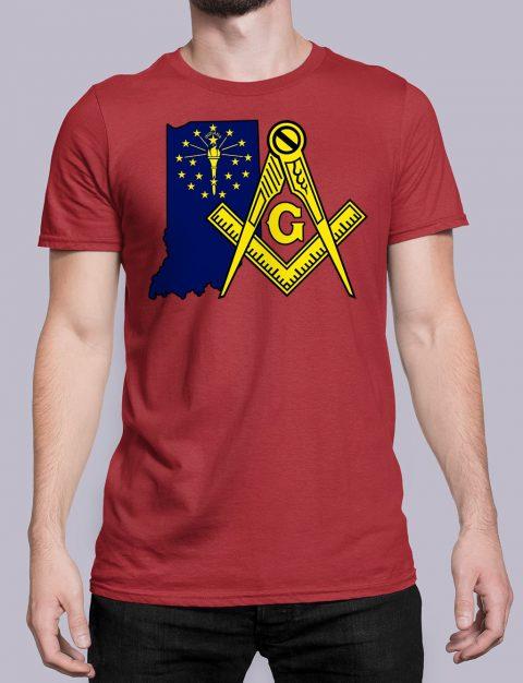 Indiana Masonic Tee Indiana red shirt