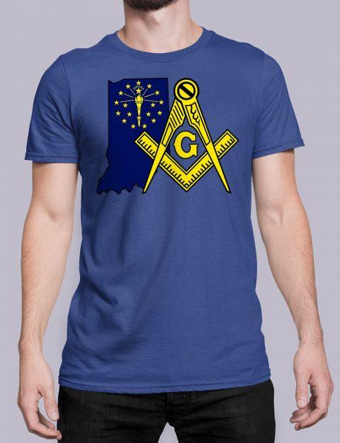 Indiana Masonic Tee Indiana royal shirt