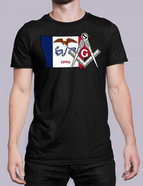 Iowa Masonic Tee Iowa black shirt
