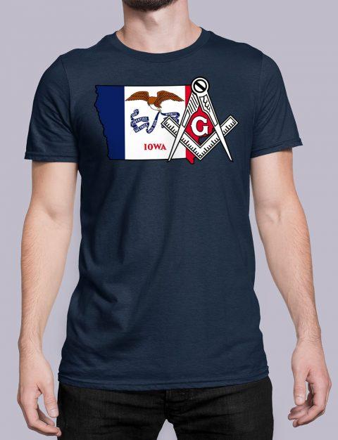 Iowa Masonic Tee Iowa navy shirt