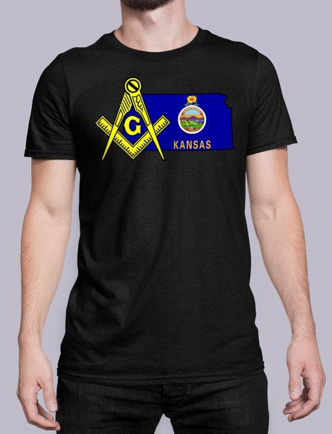 Kansas Masonic Tee Kansas black shirt