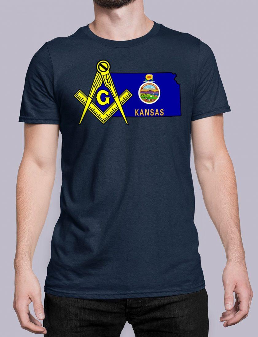 Kansas navy shirt