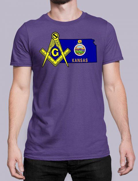 Kansas Masonic Tee Kansas purple shirt