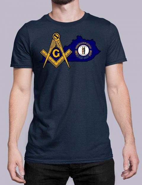 Kentucky Masonic Tee Kentucky navy shirt