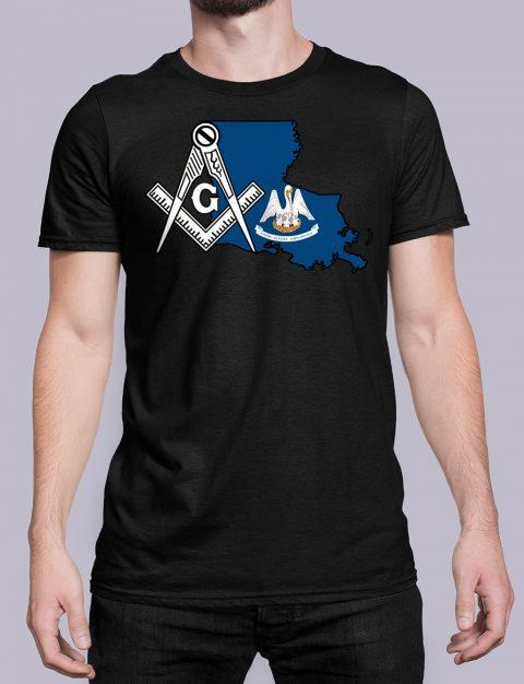 Louisiana Masonic Tee Louisiana black shirt