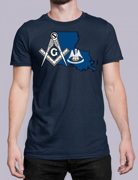 Louisiana Masonic Tee Louisiana navy shirt