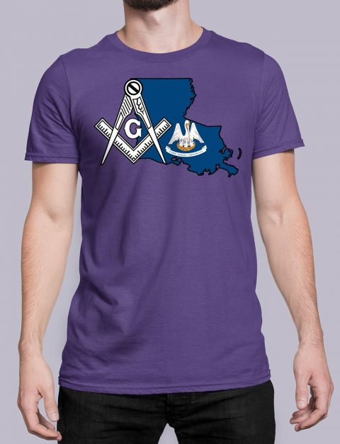 Louisiana Masonic Tee Louisiana purple shirt