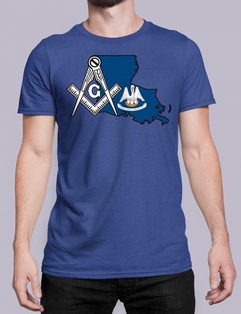 Louisiana Masonic Tee Louisiana royal shirt
