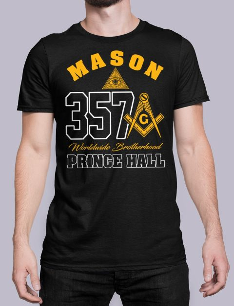 MASON 357 PRINCE HALL T-Shirt MASON 357 PRINCE HALL black shirt 19