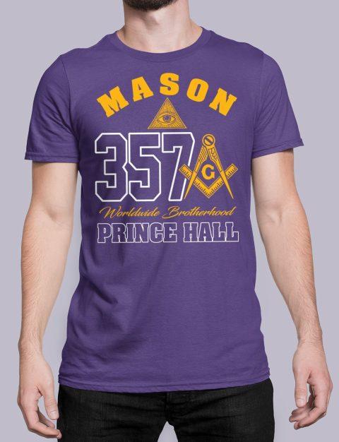MASON 357 PRINCE HALL T-Shirt MASON 357 PRINCE HALL purple shirt 19
