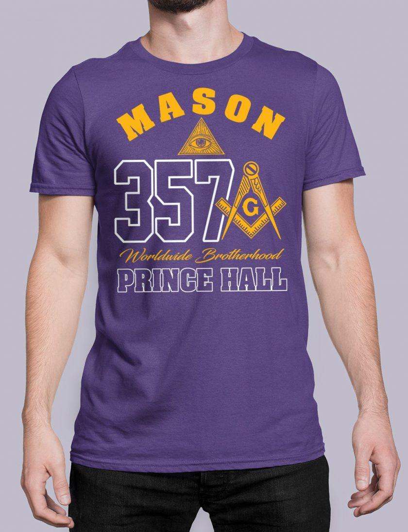 MASON 357 PRINCE HALL purple shirt 19