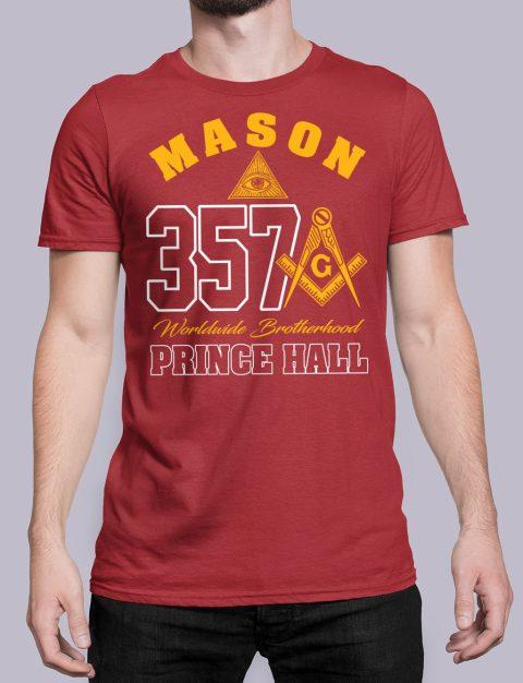 MASON 357 PRINCE HALL T-Shirt MASON 357 PRINCE HALL red shirt 19
